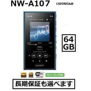 ソニー ウォークマン A100シリーズ NW-A107 (L) ブルー 64GB|inouedenki