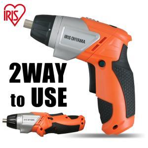 電動ドライバー 充電式 女性 ドライバー 電動 LEDライト DIY オレンジ JCD-421-D ...