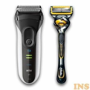 シェーバー ブラウン メンズ 電気シェーバー 髭剃り ひげ剃り 充電式 送料無料 シリーズ3 メンズ...
