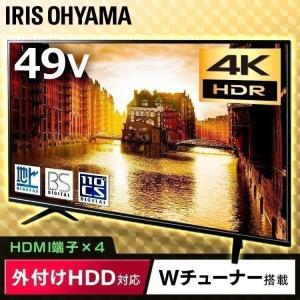 テレビ 49型 4k 液晶テレビ 新品 本体 アイリスオーヤマの画像