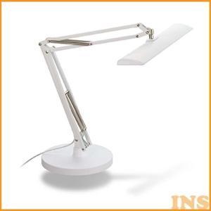 照明 デスク LED 3段階調光 デスクライト 勉強机 LED おしゃれ 照明 GENTOS ルミサスS83 WH DK-S83C ジェントス|insdenki-y
