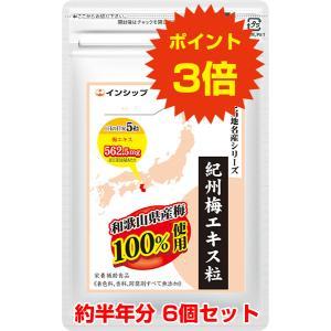 紀州梅エキス粒 6個セット / 6ヶ月分 / 送料無料 / ポイント3倍|inship