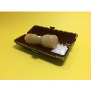 印鑑 印章 法人印 実印 銀行印 登記印 登録印 牛角 うしのつの 18ミリ丸 朱肉入りケース付 insho-ueno