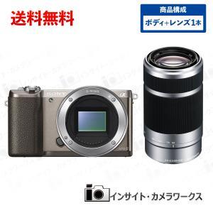 SONY ミラーレス一眼 α5100 ボディ ブラウン + 望遠レンズセット E 55-210mm F4.5-6.3 OSS シルバー|insight-shop