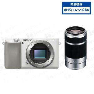 SONY ミラーレス一眼 α6100 ボディ ホワイト + 望遠レンズセット E 55-210mm F4.5-6.3 OSS シルバー|insight-shop