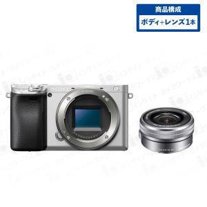 SONY α6400 ILCE-6400 ミラーレスカメラ ミラーレス一眼 ボディ シルバー + 標準ズームレンズセット E PZ 16-50mm F3.5-5.6 OSS SELP1650 グレー|insight-shop