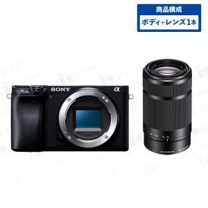 SONY α6400 ILCE-6400 ミラーレス一眼 ボディ ブラック + 望遠ズームレンズセット E 55-210mm F4.5-6.3 OSS ブラック|insight-shop