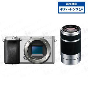 SONY α6400 ILCE-6400 ミラーレスカメラ ミラーレス一眼 ボディ シルバー + 望遠ズームレンズセット E 55-210mm F4.5-6.3 OSS シルバー|insight-shop
