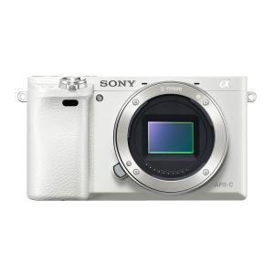 SONY ミラーレス一眼 α6000 ミラーレス一眼カメラ ボディ ホワイト ILCE-6000 W ソニー|insight-shop