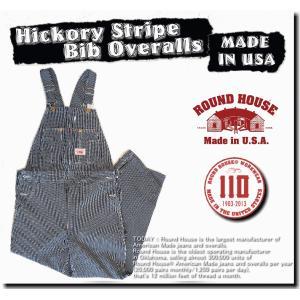 ROUND HOUSE Hickory Stripe Bib Overalls 45 ラウンドハウス...