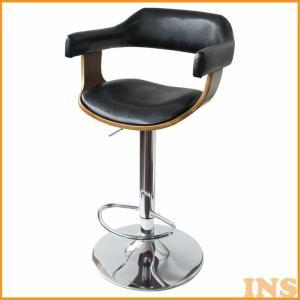 バーチェア レバー昇降式 360度回転 おしゃれ ハイチェア 椅子 チェア KNC-J1080 代引不可|inskagu-y