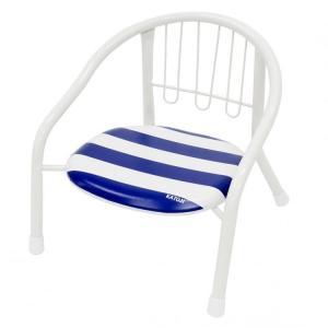 ベビーチェア かわいい パイプ椅子 赤ちゃん ベビー 子供 キッズ 静かなパイプイス マリンボーダー 19901 (D)|inskagu-y