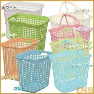 ランドリーバスケット Lサイズ LB-L  全5色 洗濯物がたっぷり入る深型タイプです。別売品のバス...