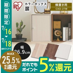 収納ケース インナーボックス カラーボックス CBボックス用木製扉 CXD-27W 収納ラック 収納家具 本棚 シェルフ 棚