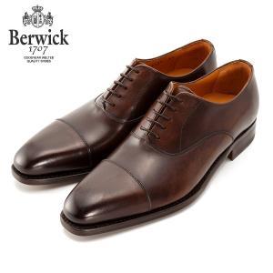 バーウィック BERWICK ストレートチップ 内羽根 紳士靴 革靴 ビジネスシューズ アンティクブラウン 2428 レザーソール カーフ素材 グットイャー製法 スペイン製|inspire-gallery