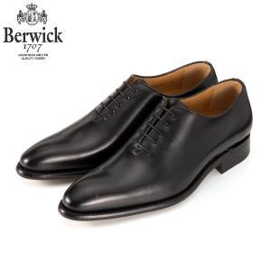 バーウィック BERWICK  ホールカット プレーン 紳士靴 革靴 ビジネスシューズ メンズ ブラ...