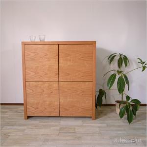 販売終了 キャビネット 完成品 木製 キャビネット/和モダン 90|instcompany