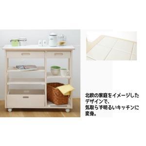 収納 キッチンカウンター ワゴン『タイルトップキッチンワゴン85』|integrowth|03