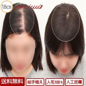 人工皮膚付き総手植えウィッグ 医療用部分ウィッグ 自然人毛 100% 部分ウィッグ トップピース 医...