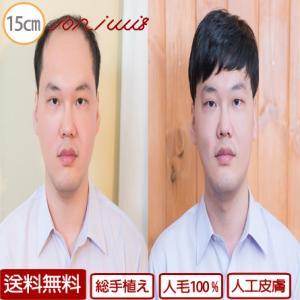 ウィッグ メンズ 男性用 ウィッグ 人毛100% 人工皮膚 総手植え メンズかつら 男性用かつら INTELLIWIG KIT-M