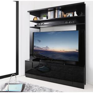 テレビ台 ハイタイプ コーナー 鏡面仕上げ 大型テレビ対応 ハイタイプコーナーテレビボード 白 黒 ホワイト ブラック 鏡面 テレビボード TVボード 送料無料の画像