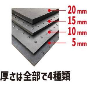 【代引き不可】ブラックターフ 10mm厚×1m幅×2m 日東化工(養生用ゴムマット)|inter-shop|02