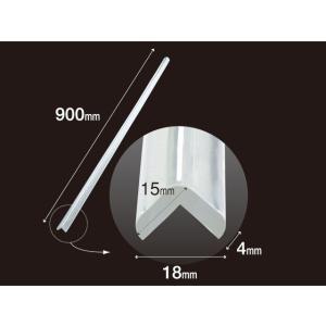 安心クッション L字型 90cm 極細 クリア (10個セット) (代引き不可) カーボーイ/トラスコ中山 inter-shop