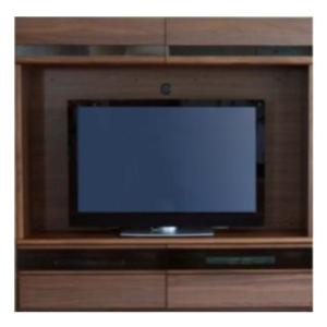 壁掛け テレビ 壁面収納 国産 180cm幅 カバーボードセットTVボードNEW Bergニューベルク180H リアルナットナチュラル モリタインテリア|inter3i