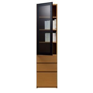 ブックすきまくん 幅45cm 奥行き30cm 高さ180cm 開き扉GH45|inter3i