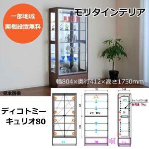 コレクションケース 飾り棚 完成品 ディコトミー キュリオ80 モリタインテリア|inter3i