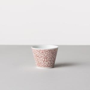 馬場商店 蕎麦猪口大辞典 和文 赤 氷裂文 蕎麦猪口 波佐見焼 陶器 うつわ 器 カップ おちょこ|inter3i