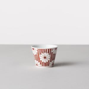 馬場商店 蕎麦猪口大辞典 和文 赤 菊花文 蕎麦猪口 波佐見焼 陶器 うつわ 器 カップ おちょこ|inter3i