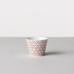商店 蕎麦猪口大辞典 和文 赤 籠目文 蕎麦猪口 波佐見焼 陶器 うつわ 器 カップ おちょこ 馬|inter3i