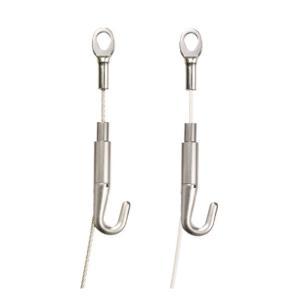 ピクチャーレール用ワイヤー ハンガーセットA 100cmΦ1.5mm(1個)  許容荷重30kg  ワイヤー部分カラー ホワイト シルバー|interia-kirameki