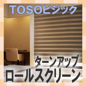 調光ロールスクリーン トーソー ゼブラシークル 遮光3級 ビジック|interia-kirameki