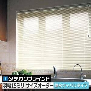 ブラインド 突っ張り式 シルキーカーテンアクアノンビス 15ミリ フッ素色|interia-kirameki