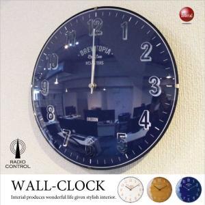 アメリカンポップ・壁掛け電波時計 interial