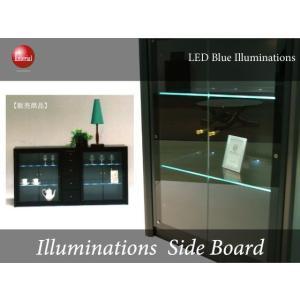 LEDイルミネーション・幅180cmサイドボード(日本製・完成品)開梱設置サービス付き★|interial