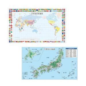 学習机用デスクマット用 世界地図 日本地図 台紙 ポスター 500×840mm
