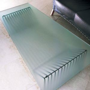 モダン ガラステーブル おしゃれ センターテーブル ガラス 幅120cm 飛散防止|interior-bagus