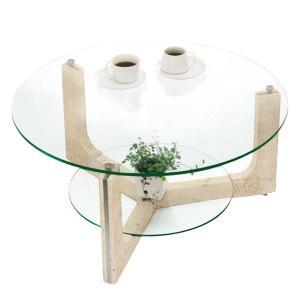 ガラステーブル 丸テーブル 幅80cm リビングテーブル おしゃれ センターテーブル ローテーブル アジアン|interior-bagus