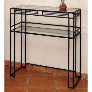 コンソールテーブル 北欧 ガラステーブル おしゃれ 飾り台 モダン ヴィンテージ風|interior-bagus