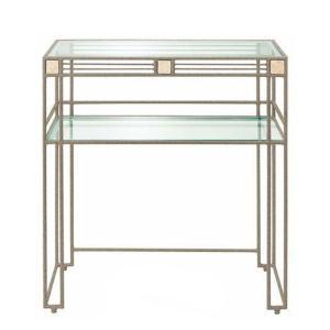 コンソールテーブル 北欧 ガラステーブル おしゃれ 飾り台 モダン|interior-bagus