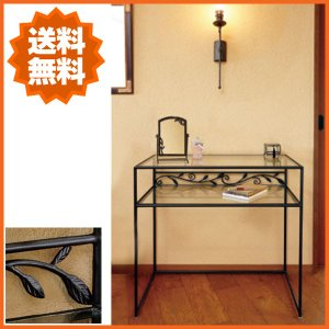 コンソールテーブル 北欧 ガラステーブル おしゃれ コンソール モダン 飾り台 アンティーク調|interior-bagus