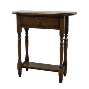 コンソールテーブル アンティーク調 サイドテーブル おしゃれ 木製 電話台 完成品 FAX台 北欧|interior-bagus