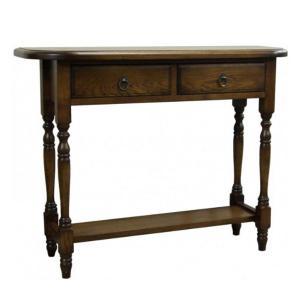 コンソールテーブル アンティーク調 サイドテーブル おしゃれ 木製 電話台 北欧 FAX台 完成品|interior-bagus