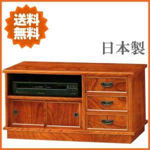 テレビ台 和 テレビボード 和風 ローボード 幅85cm ジャパニーズモダン 民芸|interior-bagus
