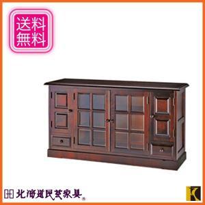 北海道民芸家具 サイドボード おしゃれ リビングボード 和風 キャビネット 木製 無垢|interior-bagus