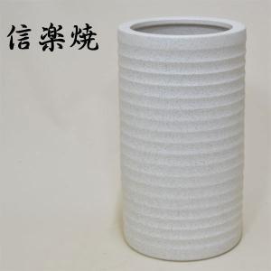 信楽焼 傘立て 陶器 信楽焼き 傘たて 和風 傘立 ホワイト 白 interior-bagus