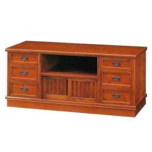 テレビ台 ローボード 和風 テレビボード 木製 TV台 完成品 TVボード 欅|interior-bagus